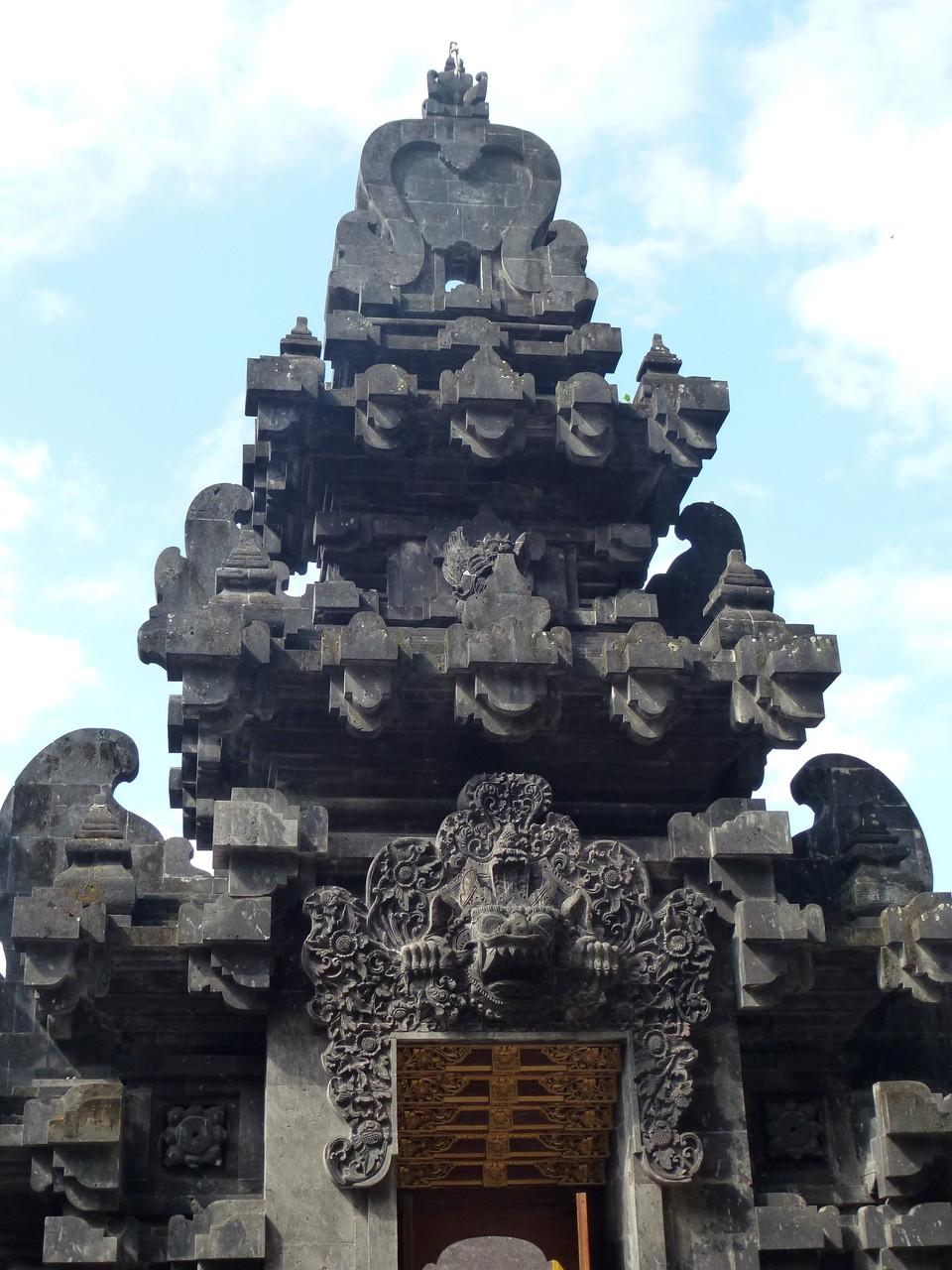 Rückseite des Eingangs