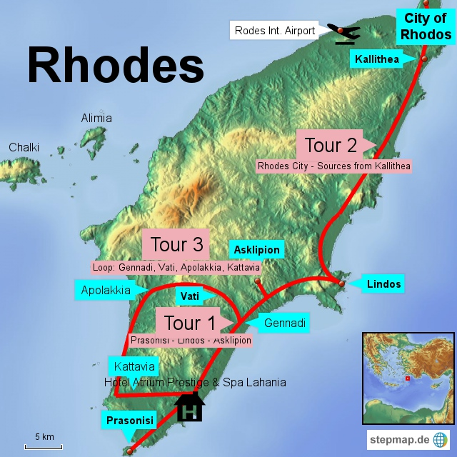 10 days relaxing on the Greek Island Rhodes