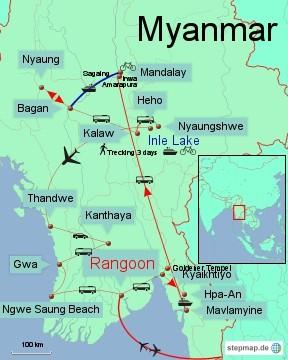 Bild: Myanmar 4 Wochen Rundreise
