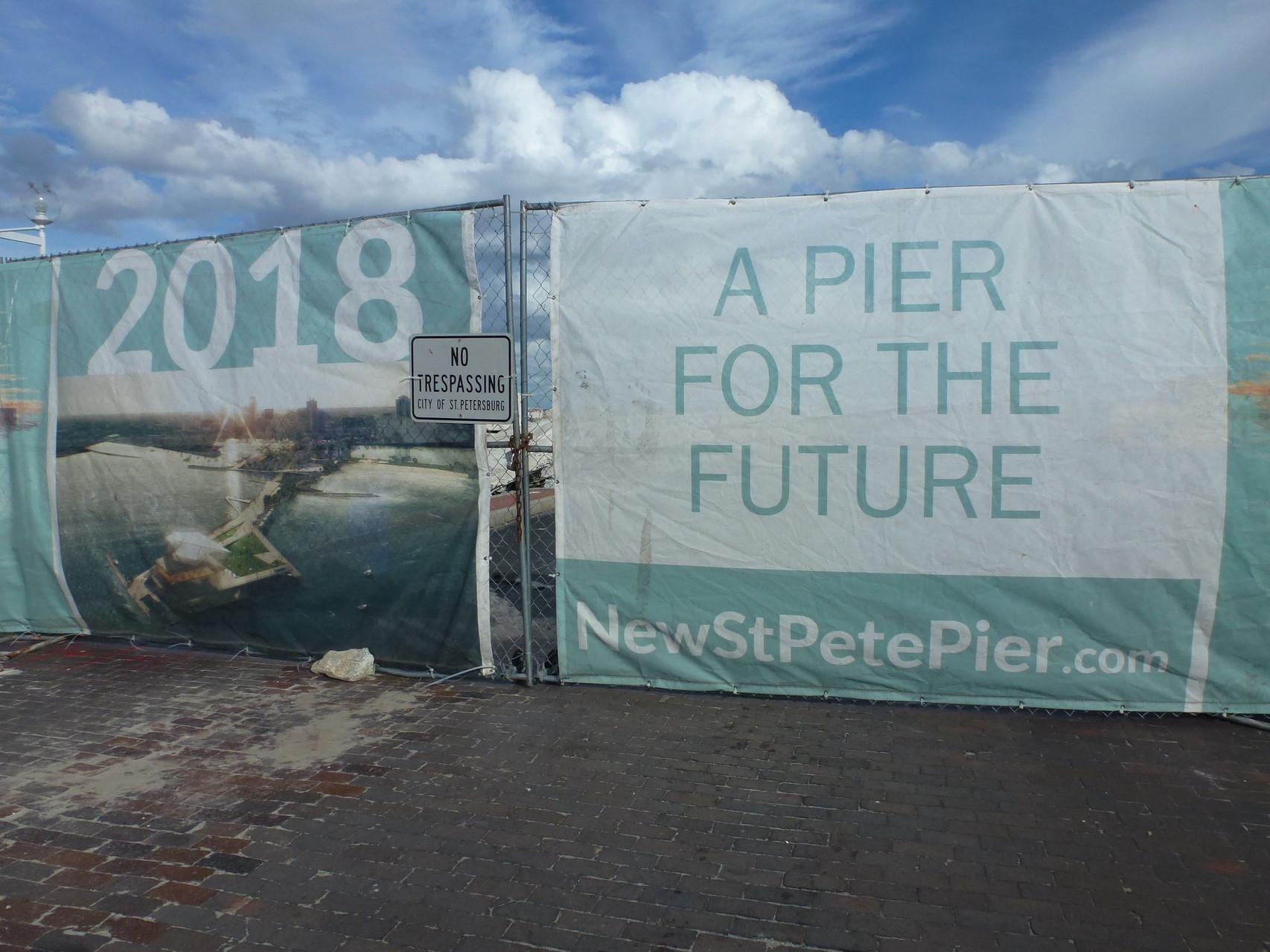 Der gesperrte Pier