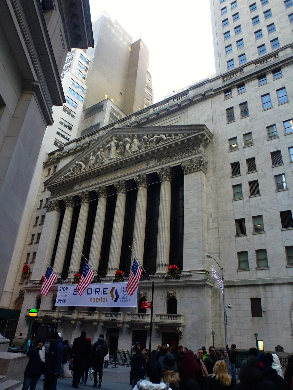Fassade des New York Stock Exchange