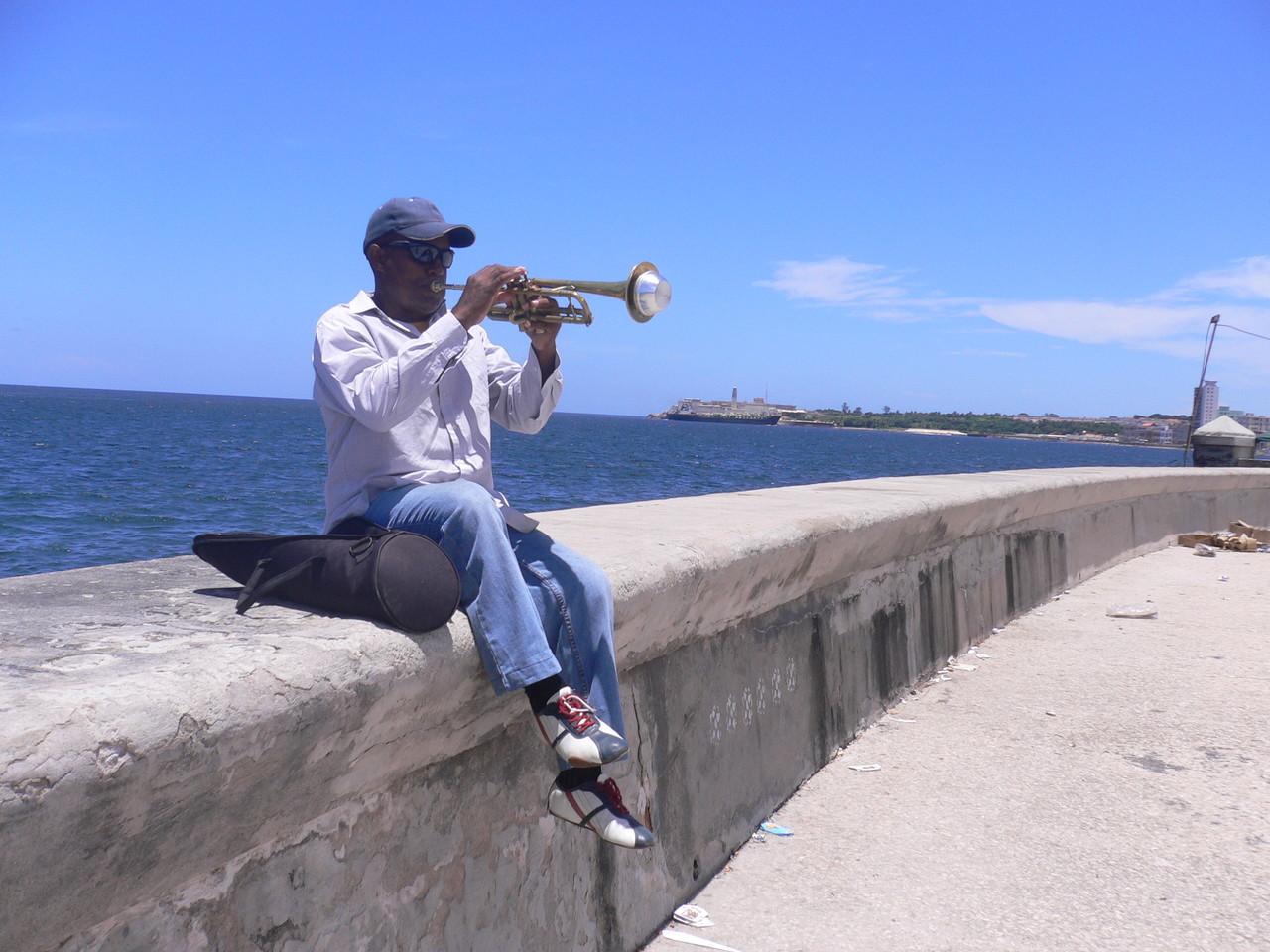 Musiker am Malecón