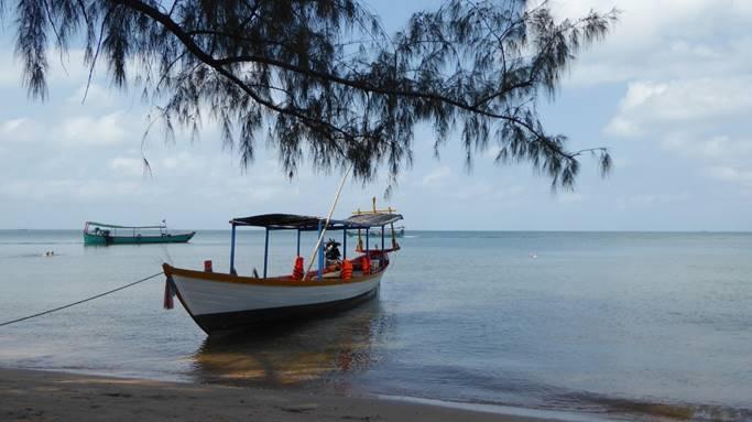 Bild: Boot im Mekong Delta