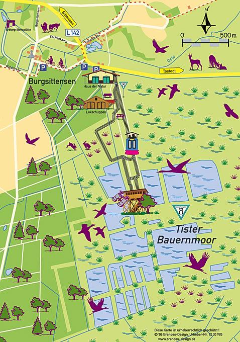 Bild: Karte von Tister Bauernmoor