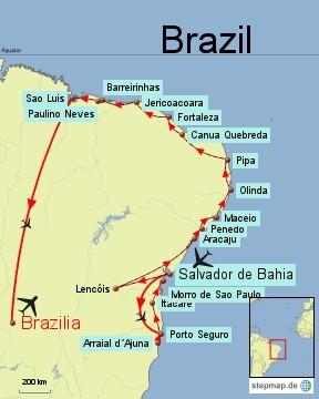 Bild: Karte von Nordbrasilien