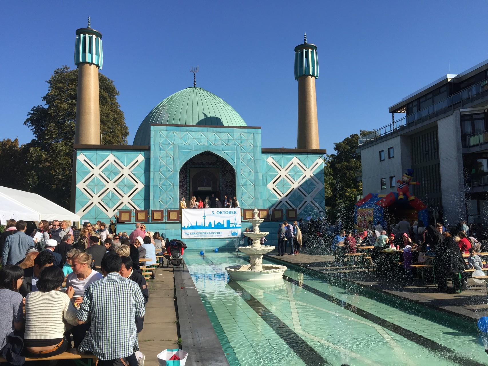 Die blaue Moschee an der Außenalster