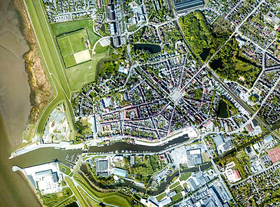 Luftbild Glückstadt