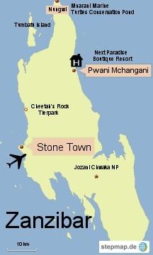 Bild: Karte von Sansibar