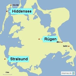 Bild: Kart von der Insel Rügen