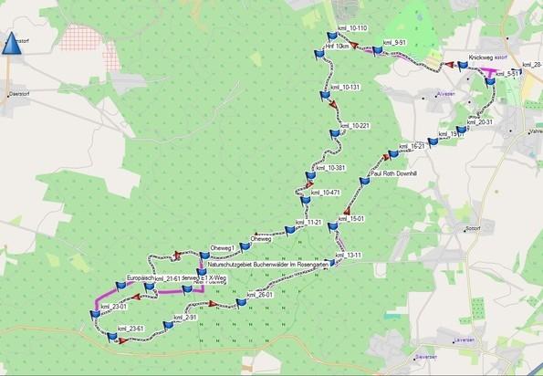 Bild: Karte vom Wildpark Schwarze Berge