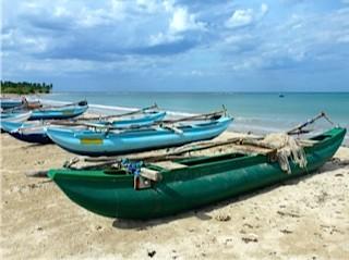 Bild: Fischerboote am Strand