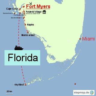 Bild: Karte von Südflorida
