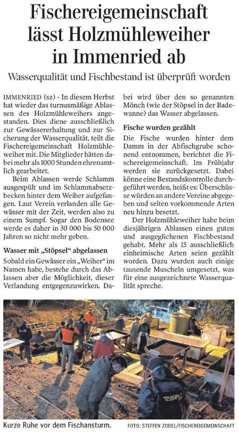 Schwäbische Zeitung vom 9.11.2018