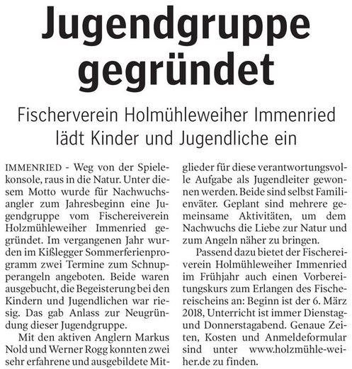 Schwäbische Zeitung vom 23.1.2018