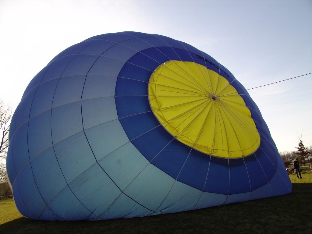 Aufrüsten des Ballons