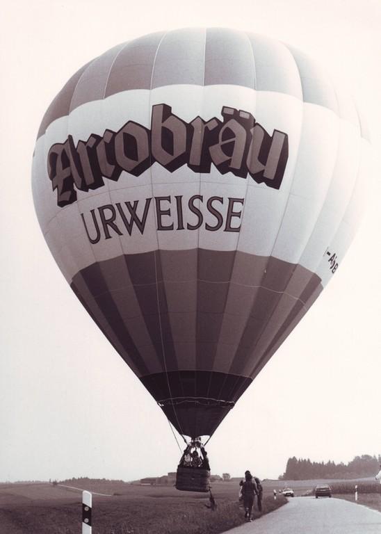 Der erste Ballon der Ballonfahrer Ostbayern e. V.