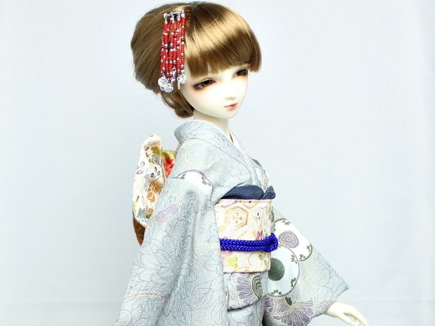 SD 着物,Dollfie kimono,ドルフィー 振袖