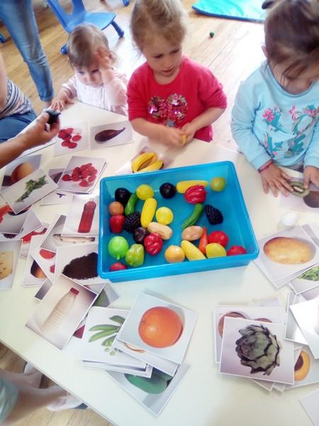 Jeux sur le thème des fruits et légumes