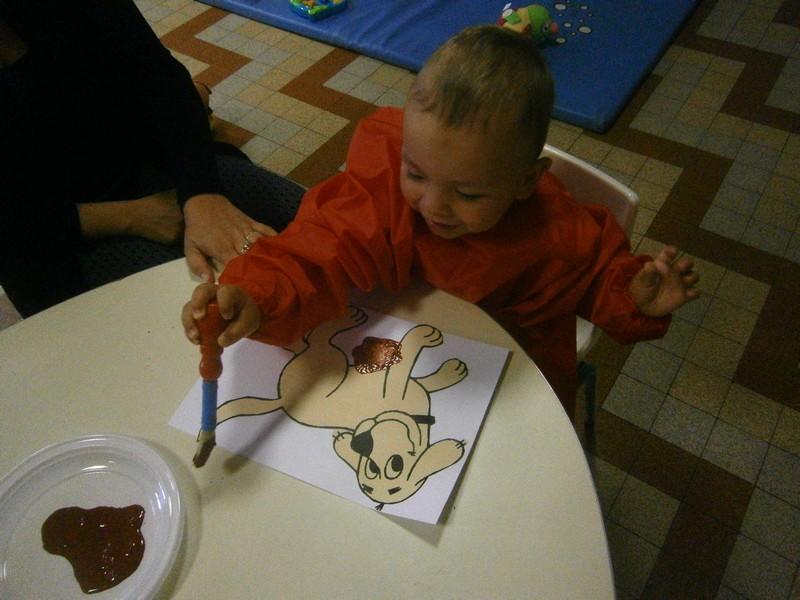 Peinture des animaux pour le décor de la salle version petite ferme