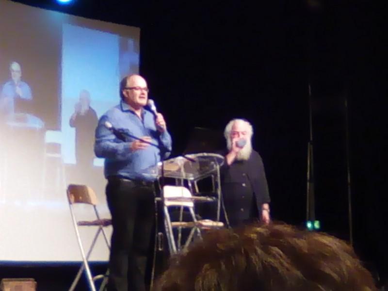 Philippe DUVAL et Jean EPSTEIN qui ouvre la journée
