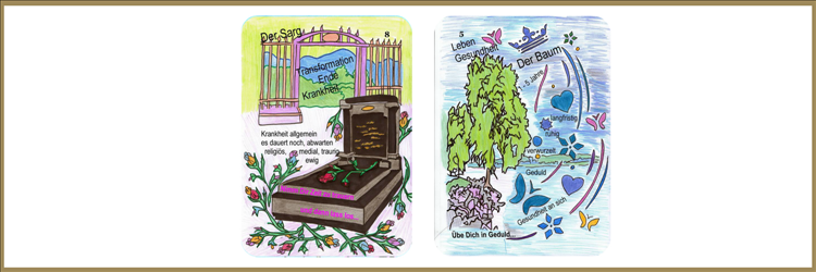 Karten Sarg und Baum Lenormandkarten