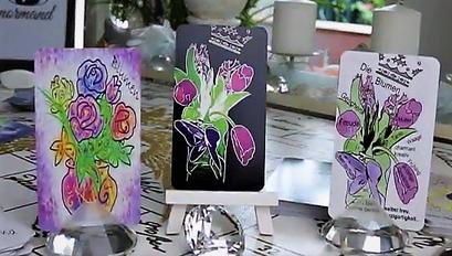 Lenormandkarte die Blume verschiedene Kartendecks