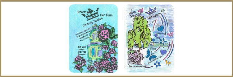 Turm und Baum Lenormandkarten