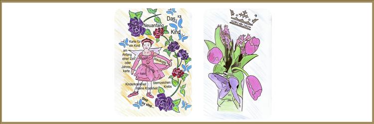 Kind und Blumenkarte Lenormand