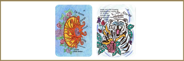 Sonne und Bärenkarte Lenormand