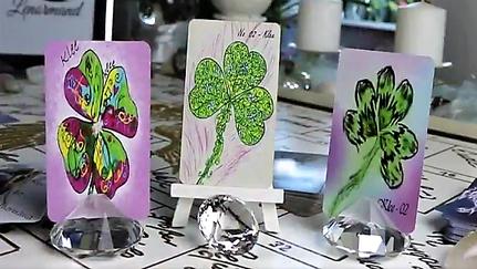 Lenormandkarte Klee verschiedene Decks