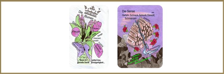 Sense und Blumenkarte Lenormand