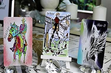 Lenormand der Reiter verschiedene Kartendecks