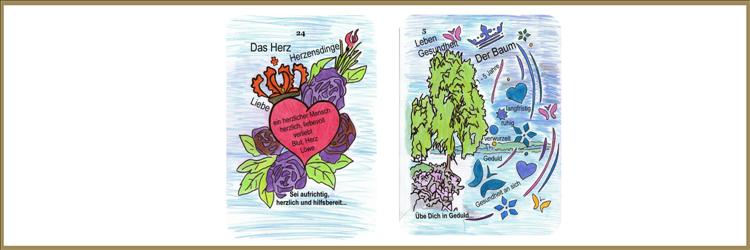 Herz und Baum Lenormandkarten