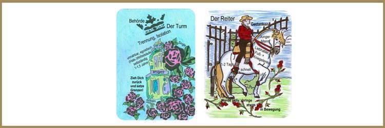 Turm und Reiterkarte Lenormand