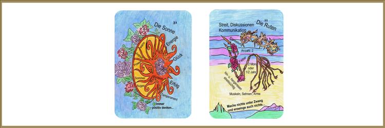 Sonne und Rutenkarte Lenormand