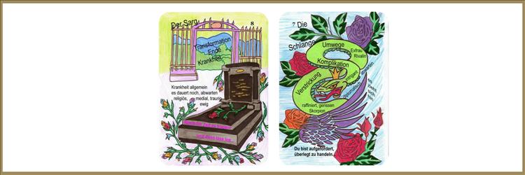 Sarg und Schlangenkarte Lenormand