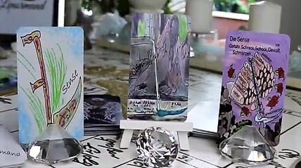 Lenormandkarte die Sense verschiedene Kartendecks