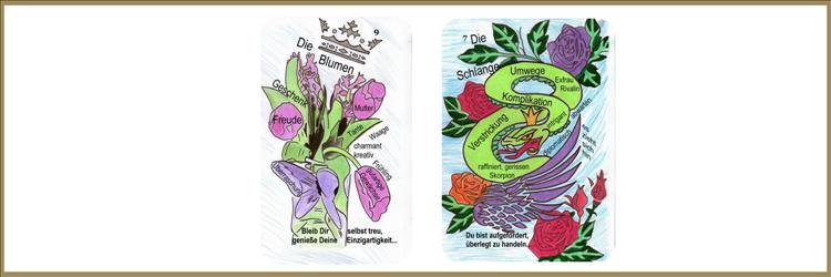 Blumen und Schlangenkarte Lenormand