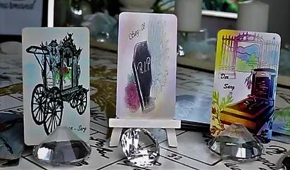 Lenormandkarte der Sarg verschiedene Kartendecks