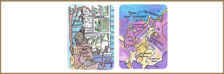 Die Lenormandkarten Wolken und Mäuse