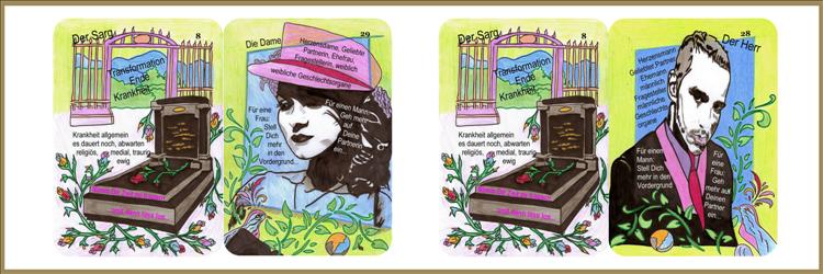 Sarg/Dame und Sarg/Herr Lenormandkarten