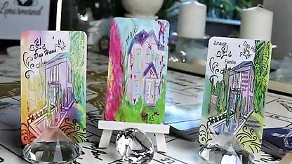 Lenormandkarte das Haus verschiedene Decks