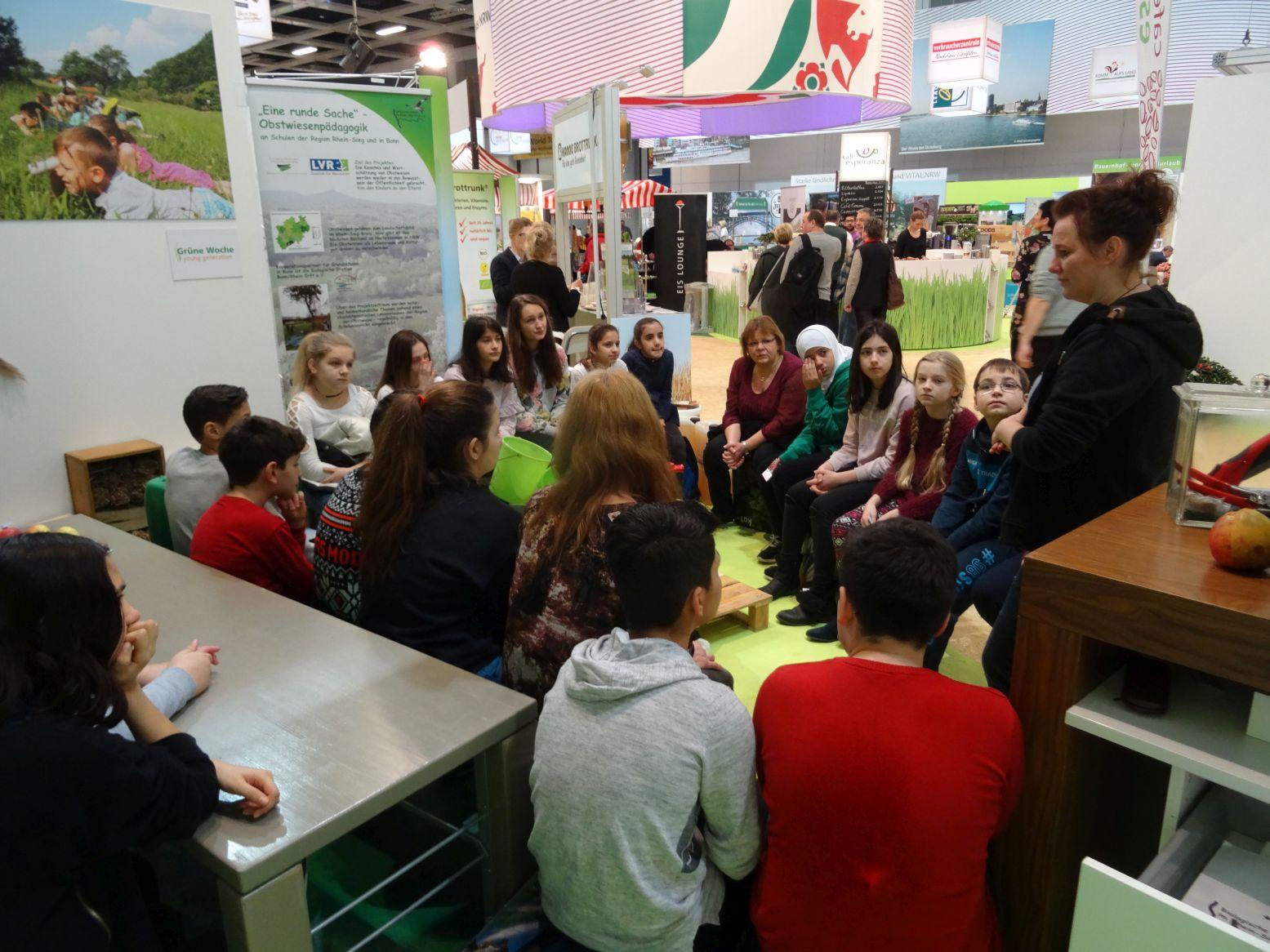 Aktion mit einer Berliner Schulklasse....