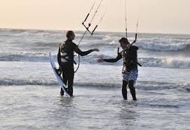kit-surf sur le crotoy baie de somme