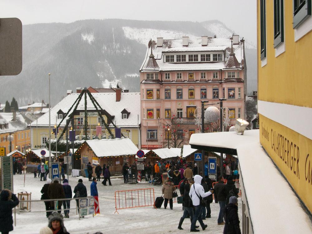 Blick auf dem Mariazeller Hauptplatz