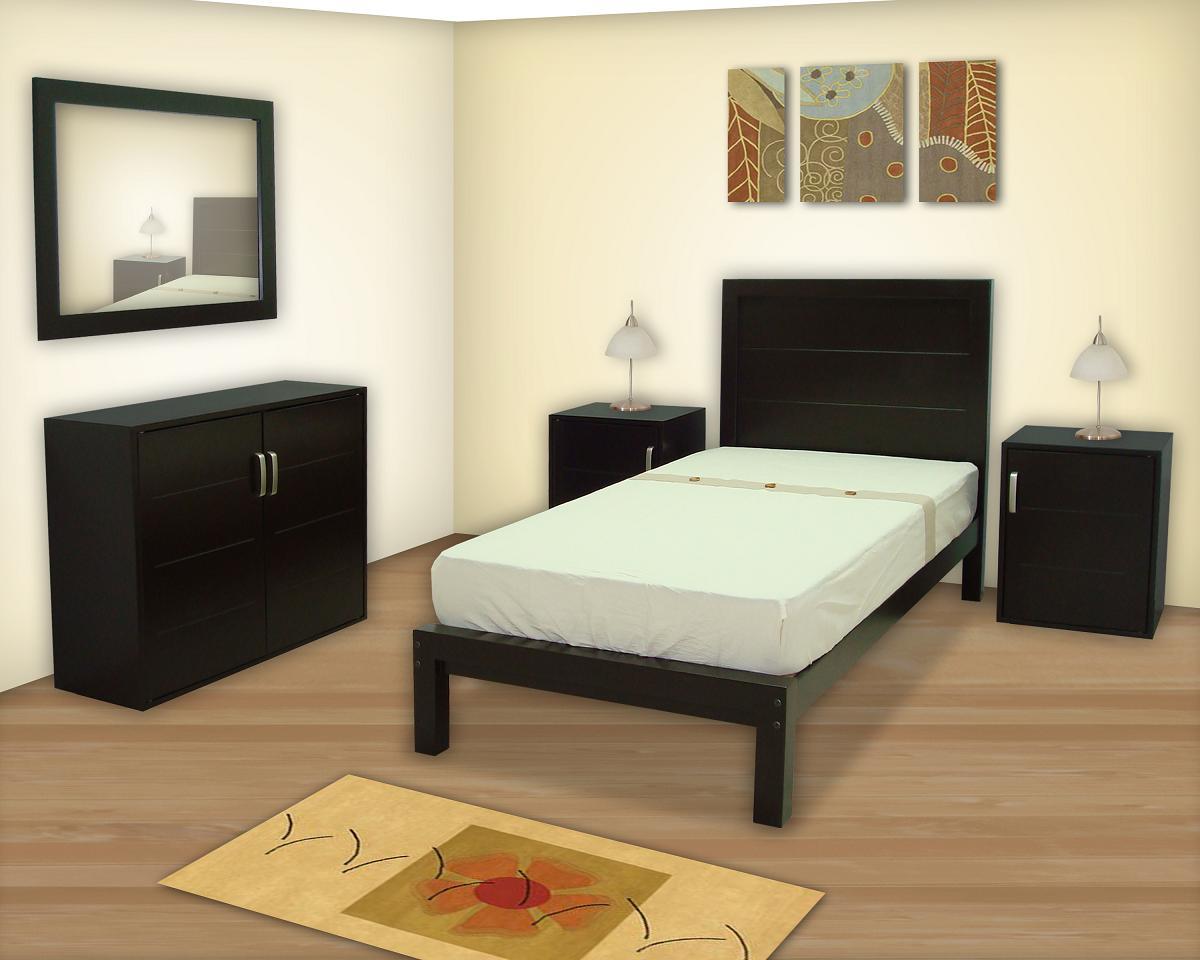 Recamaras muebles gm muebles de madera for Recamaras individuales modernas