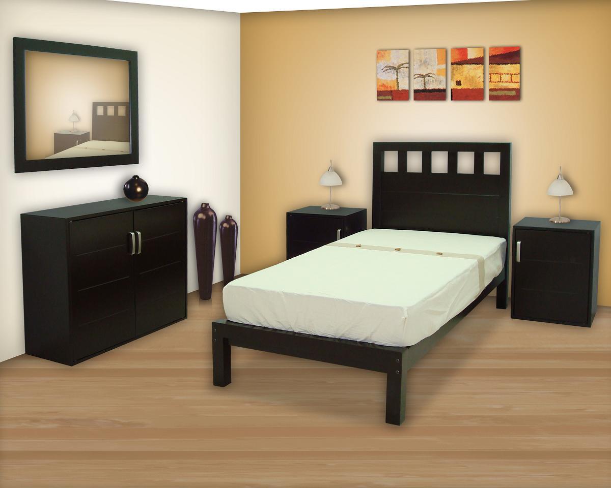 Recamaras muebles gm muebles de madera for Recamaras individuales de madera