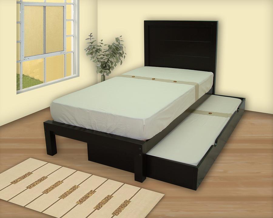 Camas dobles muebles gm muebles de madera for Cama juvenil doble con cajones