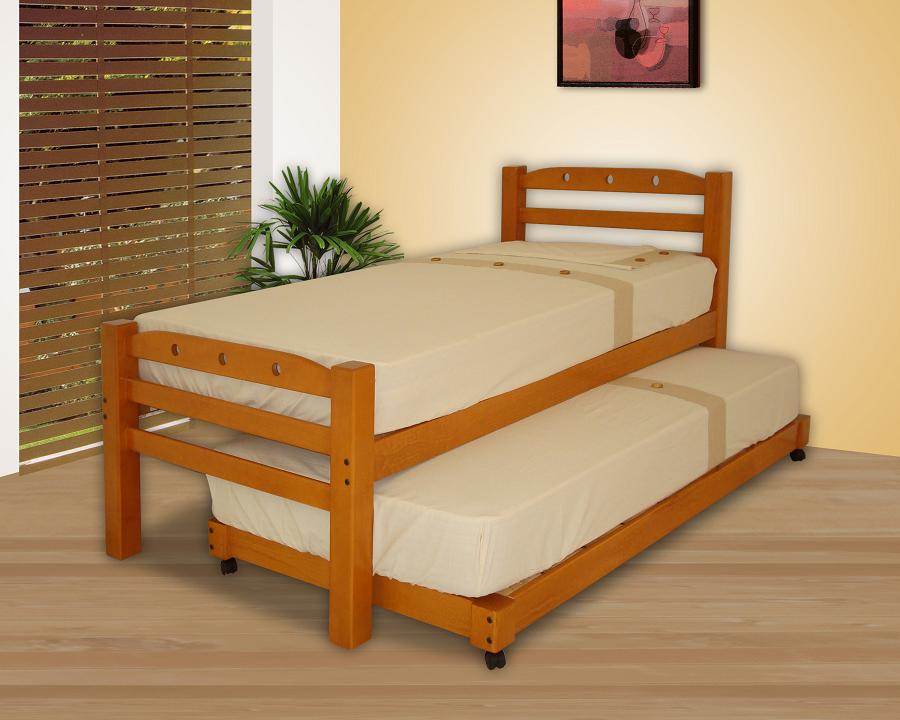 Camas dobles muebles gm muebles de madera for Camas en madera economicas