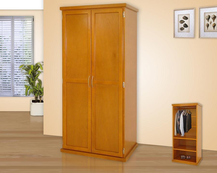 Roperos muebles gm muebles de madera for Roperos de melamina para dormitorios